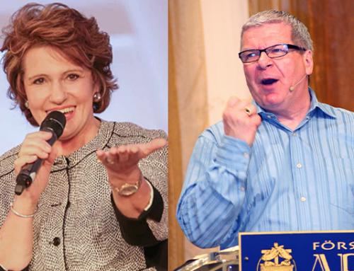 Suzette Hattingh och Bill Prankard predikar på Mirakelfestivalen